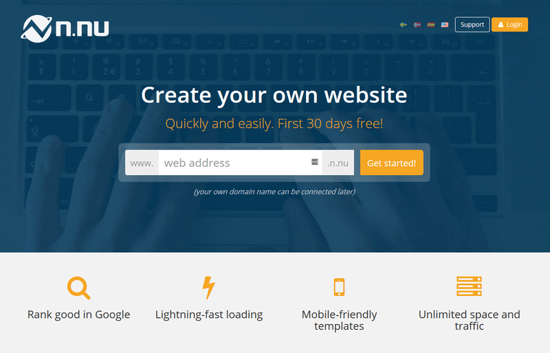 create your own professional website with n nu